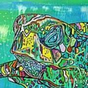 Sea Turtle Sam Art Print