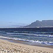 Sea With Table Mountain Art Print