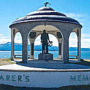 Seafarer's Memorial On Homer Spit-ak Art Print