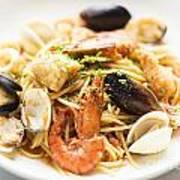 Seafood Pasta Dish Art Print