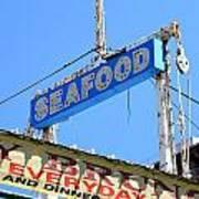 Seafood Sign Art Print