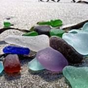 Seaglass And Seaweed Art Print