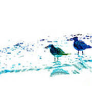 Seagull Art - On The Shore - By Sharon Cummings Art Print