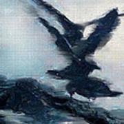 Seagull Grace Art Print