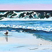 Seagull In The Sand Art Print