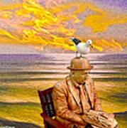 Seagull Man 6 Art Print