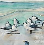 Seagull Party Art Print