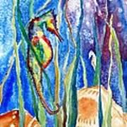 Seahorse And Shells Art Print