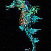 Seahorse II Underwater Ripple Art Print