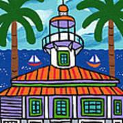 Seahorse Key Lighthouse Art Print