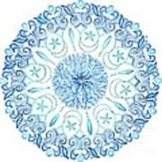 Seahorse Mandala Art Print
