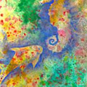 Seahorse Reef Art Print