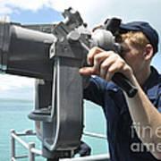 Seaman Mans The Big Eyes Aboard Art Print