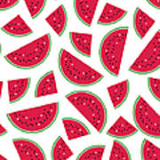Seamless Colorful Pattern With Red Art Print