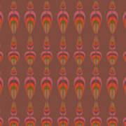 Seamless Geometric Vintage Wallpaper Art Print