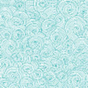 Seamless Pattern Of Doodle Swirls And Art Print