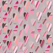 Seamless Pattern With  Vintage Tilda Art Print