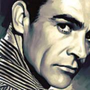 Sean Connery Artwork Art Print