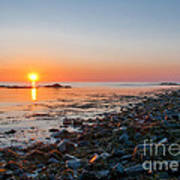 Seapoint Beach In  Kittery Point Maine Art Print