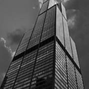 Sears Willis Tower Black And White 01 Art Print