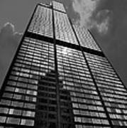 Sears Willis Tower Black And White 02 Art Print