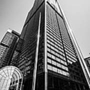 Sears Willis Tower Chicago Black And White Picture Art Print