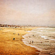 Seashore At Manhattan Beach Art Print