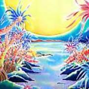 Seashore In The Moonlight Art Print