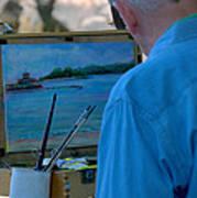 Seaside Artist Art Print