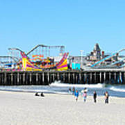 Seaside Casino Pier Art Print