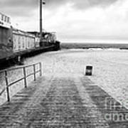 Seaside Heights Beach In Black And White Art Print by John Rizzuto