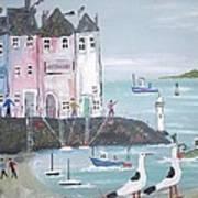 Seaside Houses Art Print