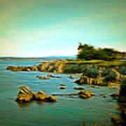 Seaside In The Distance Digital Art Print