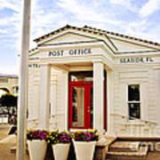 Seaside Post Office Art Print
