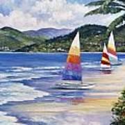 Seaside Sails Art Print by John Zaccheo
