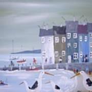 Seaside Seagulls Art Print