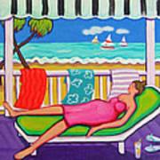 Seaside Siesta Art Print