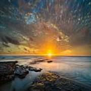 Seaside Sunset - Square Art Print