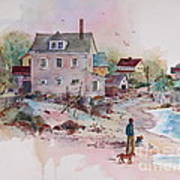Seaside Village Art Print by Sherri Crabtree