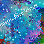 Season Greetings - Snowflakes Art Print