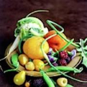 Seasonal Fruit And Vegetables Art Print