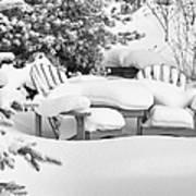Seasonal Yard Furniture Art Print