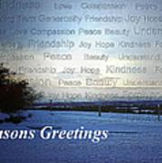Seasons Greetings Wishes Art Print