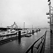 seaspan marine tugboat dock city of north Vancouver BC Canada Print by Joe Fox