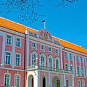 Seat Of Parliament In Old Town Tallinn-estonia Art Print