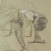 Seated Dancer Adjusting Her Shoes Art Print