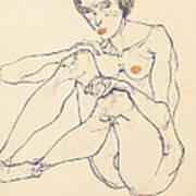 Seated Female Nude Art Print