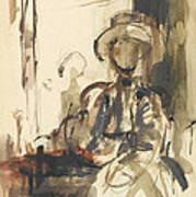 Seated Figure Woman Seated, Wearing Art Print