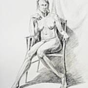 Seated Nude Model Study Art Print