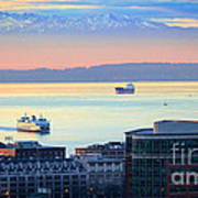 Seattle And Elliott Bay Art Print